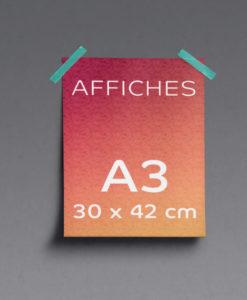 impression affiches A3 30x42cm