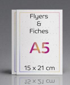 impression flyers et fiches 15x21
